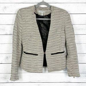 H&M Tweed Structured Blazer Size 6